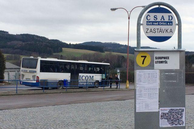 Autobusové nádraží v Ústí nad Orlicí