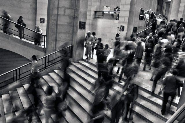 lidé, spěch, shon, dav