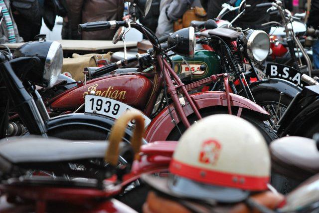 Historický motocykl Indian   foto: Petra Kučerová