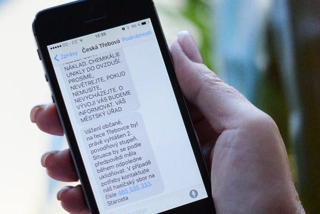 Takto by mohla vypadat krizová SMS v České Třebové