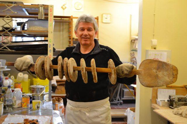 Petr Voldán jako pekařský učeň v Helsinkách   foto:  archiv Petra Voldána