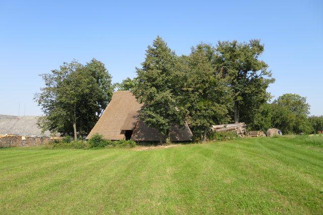 Stodola Žroutova statku byla postavena v polovině 17. století