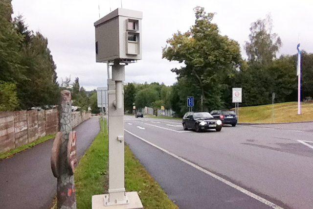 Radar v Poličské ulici v Hlinsku