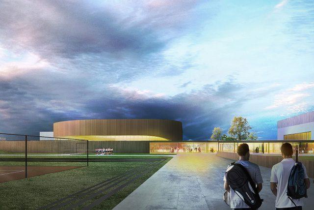 Vizualizace nového sportovního areálu na Dukle podle vítězného návrhu | foto:  Atelier CMJN