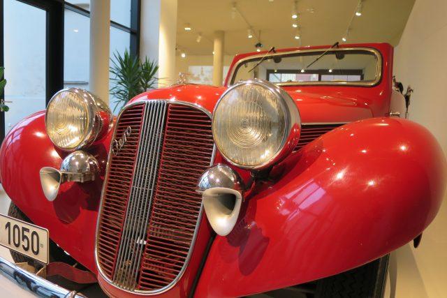 Automobil Aero 50 byl nejčastěji karosovaným vozem Sokomkovy firmy,  tento kabriolet pochází z roku 1938 | foto: Tereza Brázdová,  Český rozhlas