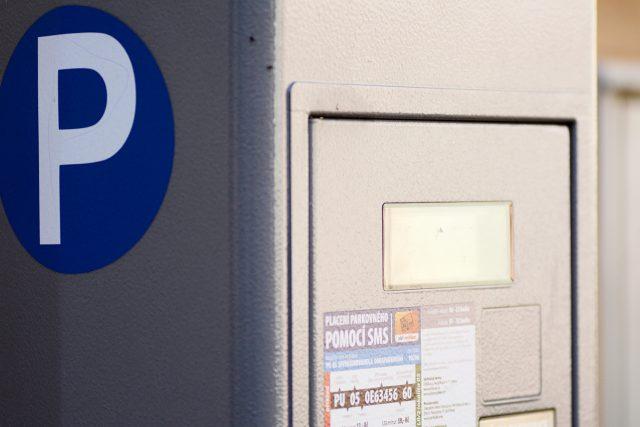 Parkovací automat v Pardubicích