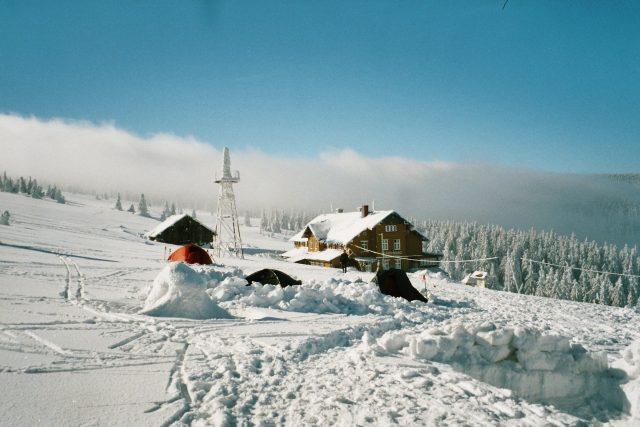 Zimní táboření