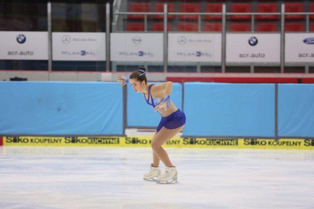 Nikola Rychtaříková na závodech MČR v Českých Budějovicích
