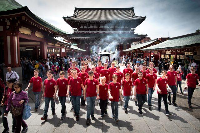 Pěvecký sbor Bonifantes na turné v Japonsku