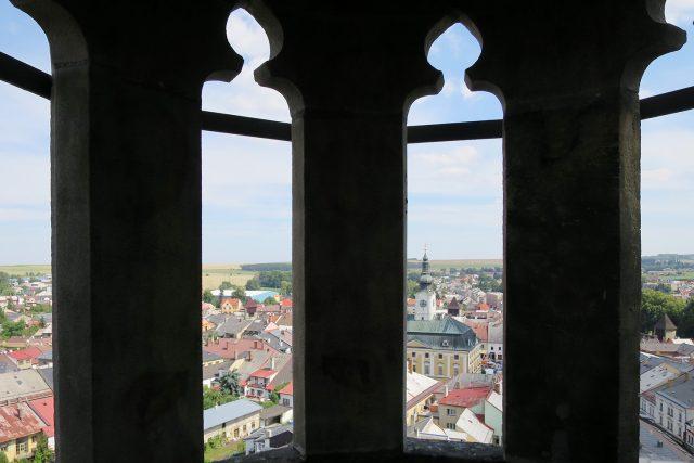 Pohled z ochozu věže kostela sv. Jakuba v Poličce