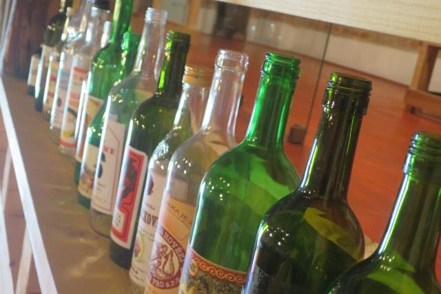 Ukázky lahví a etiket