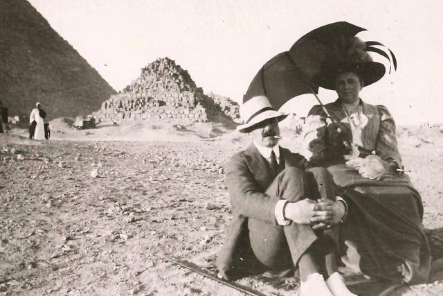 Fotografie z Egypta rod Auerspergů