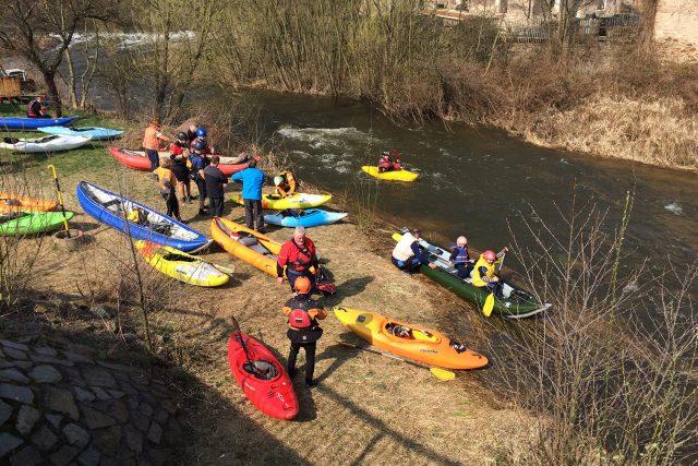 Doubravu letos vodáci otvírali na začátku dubna   foto: Honza Ptáček,  Český rozhlas
