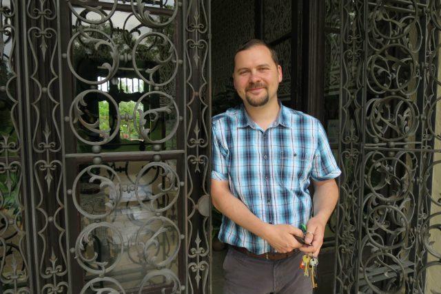 Kastelán slatiňanského zámku Jaroslav Bušta