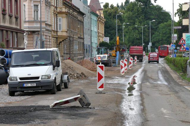 Výměna kanalizačního potrubí na Palackého ulici v Chrudimi