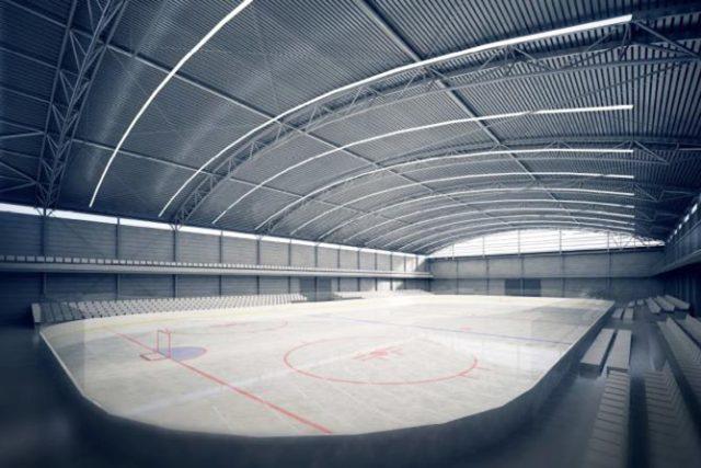 Vizualizace malého zimního stadionu