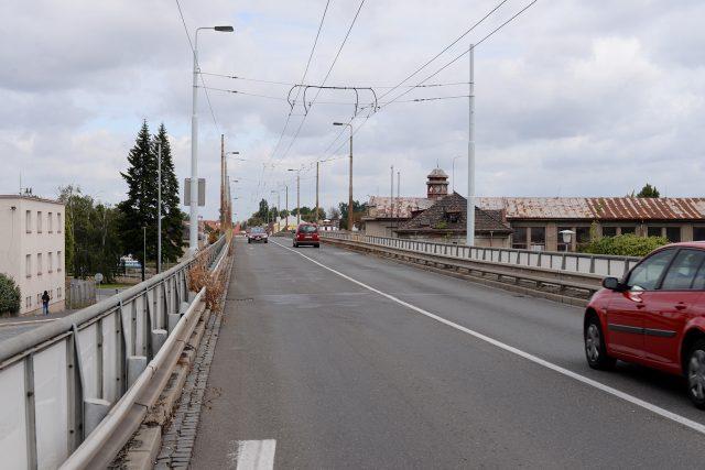 Most u Pardubické nemocnice v Kyjevské ulici