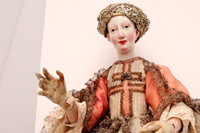 Loutka barokní dámy