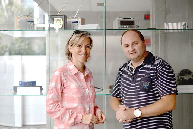 Alena Zárybnická a Michal Klokočník při natáčení Záletů