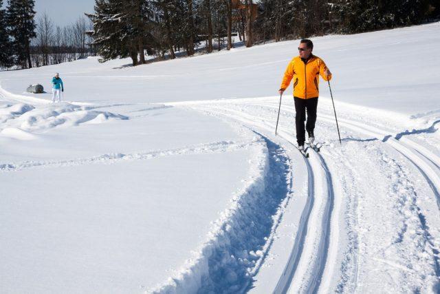 Na Šumavě mají běžkaři tradičně k dispozici přes 500 kilometrů tratí (ilustrační foto)