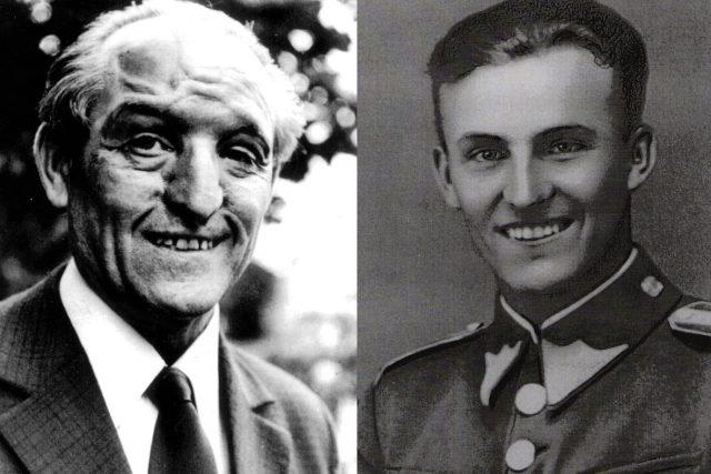 Josef Koukal vlevo v 70. letech,  vpravo ještě v uniformě četaře československé armády   foto:  archiv rodiny Josefa Koukala
