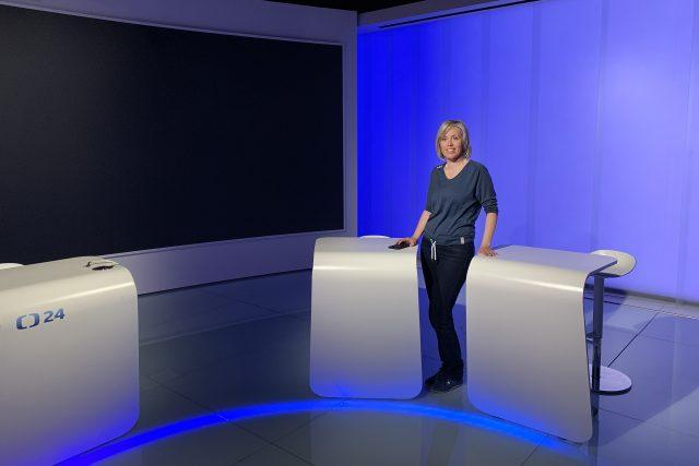 Alena Zárybnická ve studiu | foto: Zdeněk Novák,  Český rozhlas