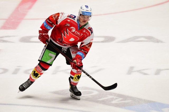 Hokejový útočník Matěj Blümel | foto: Ladislav Adámek,  HC Dynamo Pardubice