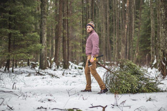 Muž krade v lese vánoční stromek | foto: Profimedia