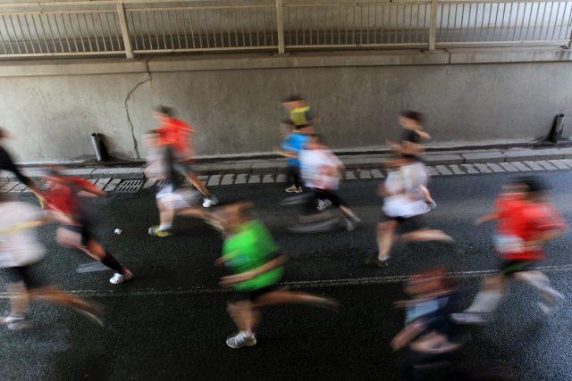 Účastníci Vinařského půlmaratonu v Pardubicích