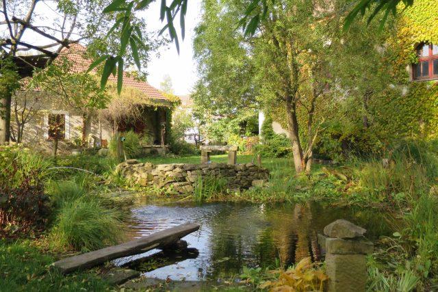 Zahrada bývalé fary v Semaníně
