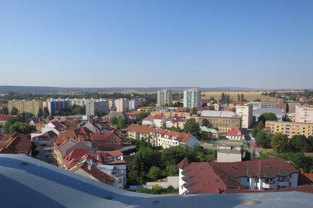 Pohled na Chrudim z minaretu Mydlářovského domu v Chrudimi | foto: Jitka Slezáková,  Český rozhlas
