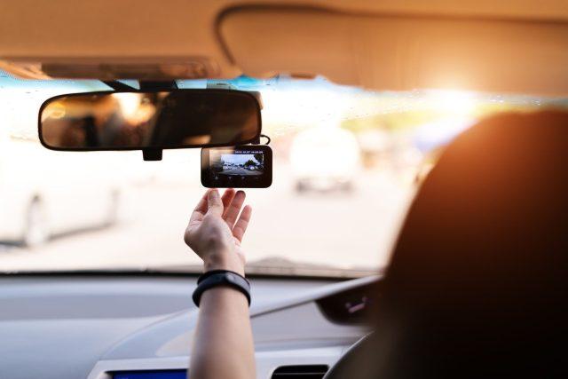 Kamera v autě, ilustrační foto