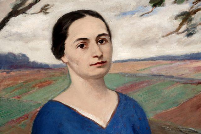 Detail portrétu Boženy Němcové malíře Josefa Voleského z roku 1930 | foto: Městská galerie Litomyšl