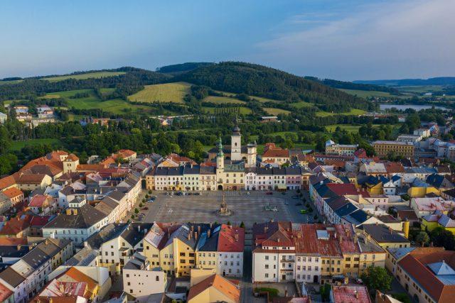 Dvě věže v Moravské Třebové - radniční a kostelní