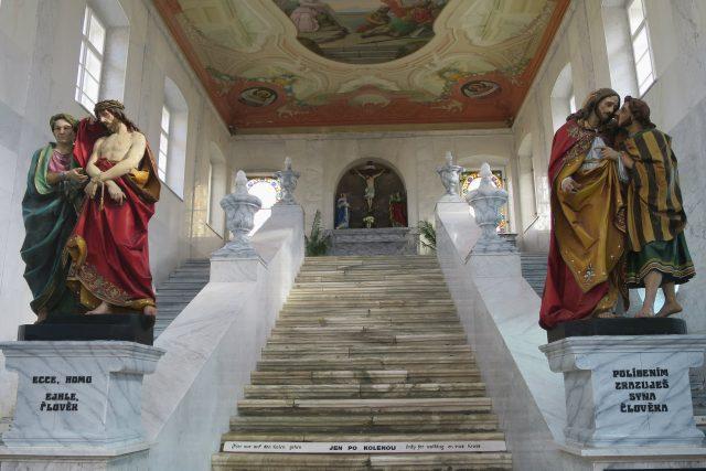 Kaple Svatých schodů v areálu kláštera na Hoře Matky Boží u Králík