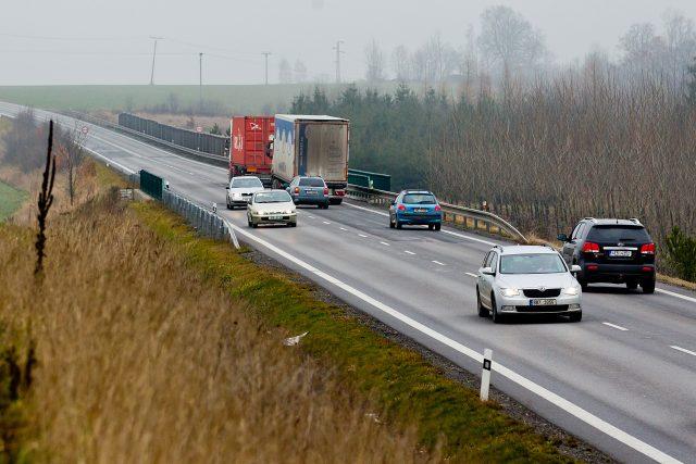 Hustá doprava na silnici I/43 u Svitav