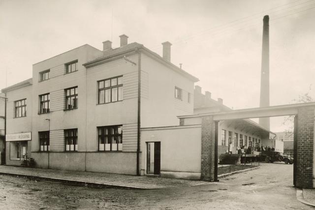 Budova mlékárny v letech 2.SV