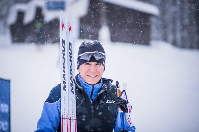 Kateřina Neumannová s běžkami na Churáňově  (únor 2018) | foto: Petr Lundák,  MAFRA / Profimedia
