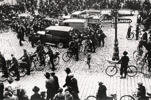 Německé jednotky přijely do Poličky 10.října 1938