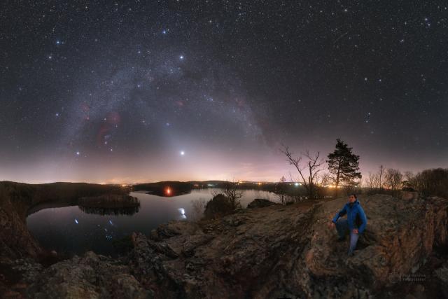 Ty nejlepší vesmírné fotografie vznikají podle Petra Horálka na Seči   foto: Petr Horálek