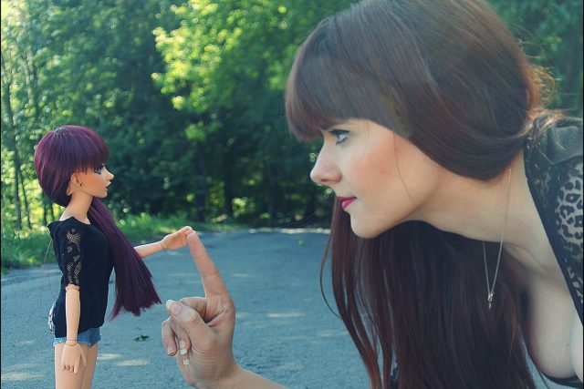 Hana Valterová vyrobila i své miniaturní dvojče | foto: Hana Valterová