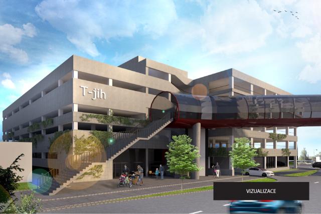 Vizualizace parkoviště terminálu jih u pardubického vlakového nádraží | foto: Dopravní podnik města Pardubic
