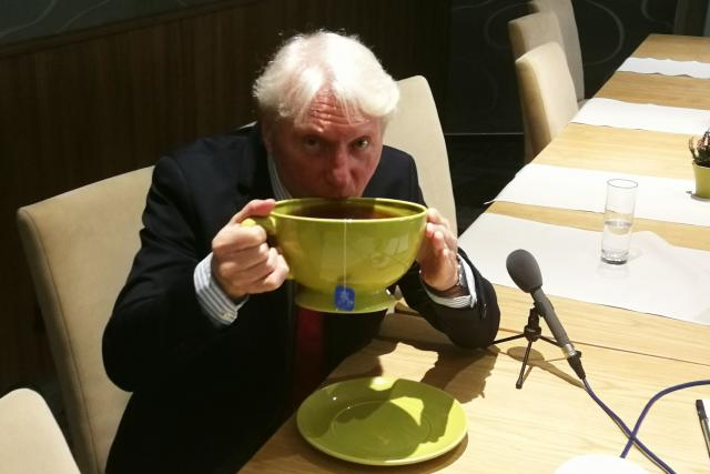 Ladislav Špaček je velký milovník čaje