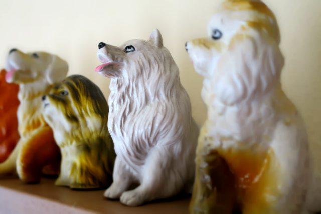 Keramická ořezávátka ze sbírky Renaty Tatíčkové ze Stolan