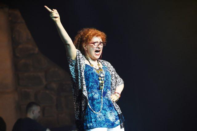 Jaroslava Kretschmerová v Divadle Hybernia na obnovené premiéře muzikálu Mamma Mia! | foto: Profimedia