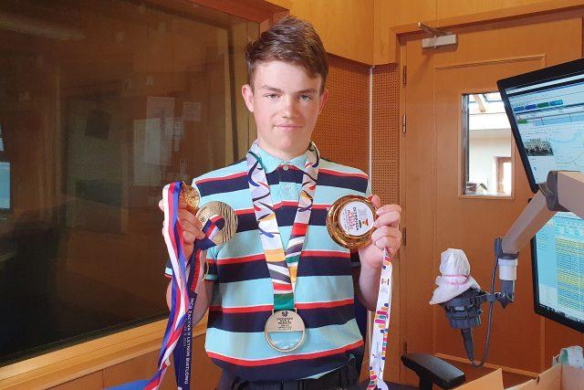 Třináctiletý lyžař František Jelínek