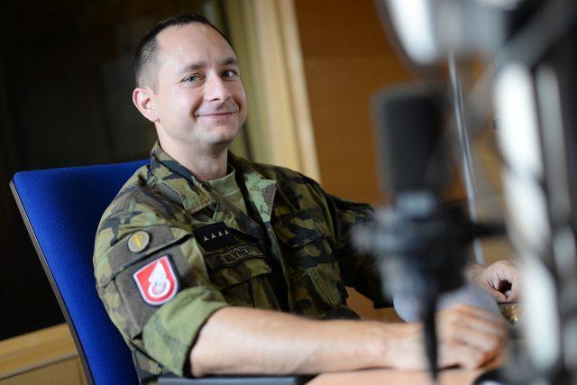 Vojenský kaplan Tomáš Mlýnek   foto: Honza Ptáček,  Český rozhlas