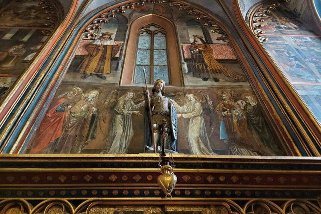 Socha sv. Václava ve Svatováclavské kapli   foto: Markéta Vejvodová,  Český rozhlas