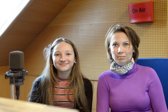 Lucie Pudilová a lektorka Markéta Břízová | foto: Ilona Sovová,  Český rozhlas