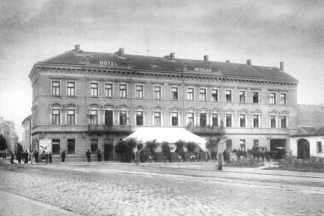 Veselka, před rokem 1905, kdy byla v majetku rodiny budoucího letce Jana Kašpara